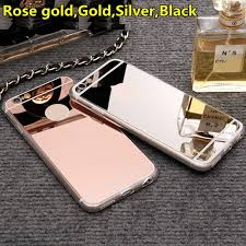 mirror iphone 7 plus case. luxury mirror soft clear tpu case for iphone 7 7plus \u0026 6 plus 5se iphone