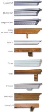 diffe shelves styles for the mantle shelves