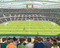 Behang Voetbal Stadion Walltastic 245x305 Cm Sinqel