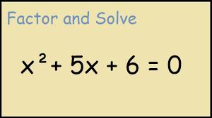 solve x 2 5x 6 0