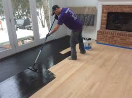 Black Stained Hardwood Flooring But Itu0027s NOT Glossy And The Grain Staining Hardwood Floors Black