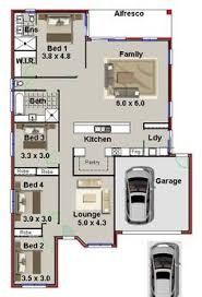 small 4 bedroom house plans. Simple House Small Land House Plan  Narrow Lot 4 Bedroom Plan NEW DESIGN  Australianfloorplans With House Plans E