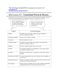 Transistion Words Transitional Words For A Dbq