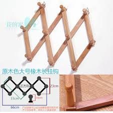Folding Coat Rack pine telescopic folding coat rack wall coat clothes hooks hat towel 71