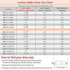 Ballet Shoe Size Chart Stelle Premium Leather Ballet Slipper Ballet Shoes Toddler Little Kid Big Kid 5mt Pink