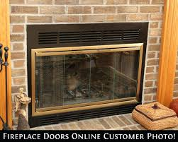 fireplace insert glass doors zero clearance fireplace door in antique brass finish fireplace glass door replacement