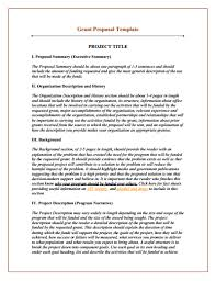 Project Proposal Format Mesmerizing Grant Proposal Template Download Create Edit Fill And Print
