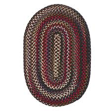 colonial mills chestnut knoll amber red 10 ft x 13 ft oval braided area