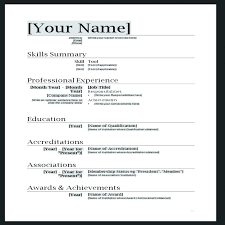 Resume Template In Word Format Resume Format For Marriage Free