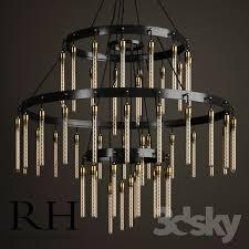 3d models ceiling light restoration hardware axis 3 tier intended for restoration hardware ceiling lights intended