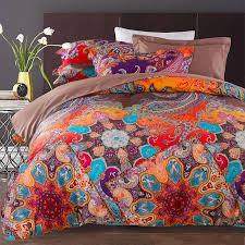 Rust Orange Purple and Blue Vintage BOHO Style Tribal Print ... & Rust Orange Purple and Blue Vintage BOHO Style Tribal Print Paisley Pattern  100% Cotton Damask Adamdwight.com