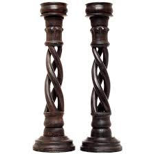 pair of vintage indian candleholders for