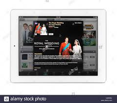 Apple iPad 2 tablet computer with iTunes TV shows featuring the royal Stock  Photo - Alamy