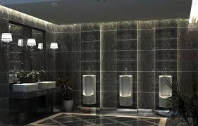 office washroom design. 3d public toilet room office washroom design