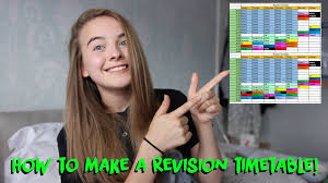 how to make a revision timetable how to make a revision timetable