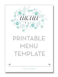 Menu Card Template Free Download Elegant Design Coffee Menu