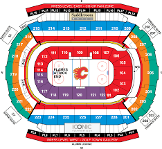 Ppl Seating Chart With Rows Scotiabank Saddledome