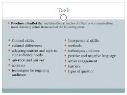 barriers to communication interpersonal skills  communication activity 2 statements task