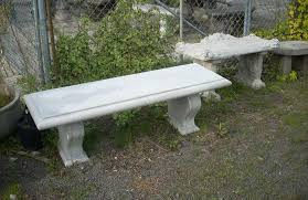 concrete outdoor garden tables and benches in portland oregon