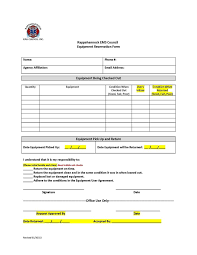 Equipment Loan Agreement Example Template Sample Letter Form
