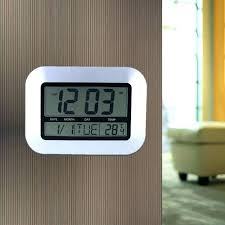 digital wall clock with temperature post digital atomic wall clock with indoor outdoor temperature