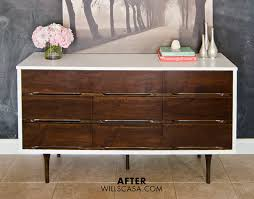 laminate furniture makeover. One Of Our Most Popular Posts Is How To Stain And Paint Veneer Furniture. You Will Recognize The Mid Century Modern Dresser From Nursery Week Since Laminate Furniture Makeover E