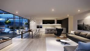 Kitchen And Living Room Kitchen Living Room Combo Decorating Ideas Curved Leather