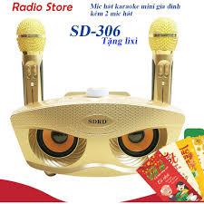 Giá bán Loa karaoke kết nối bluetooth SD-306 đa năng + Tặng Kèm 2 Mic Không  Dây -hàng chính hãng - BH 6 tháng