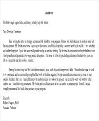 Letter Of Recommendation For Internship 8 Sample Internship Recommendation Letter Free Sample