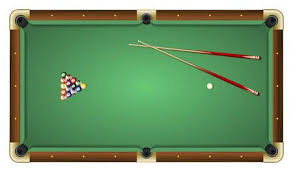 pool table clipart side view. Modren View Realistic Vector Illustration Of A Green Pool Table With Balls And Cues  Top View Inside Pool Table Clipart Side View