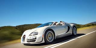 The bugatti veyron 16.4 was the most powerful and the faster car in the world when it first came out in 2005, it can easily pass as a super hero`s car like batman. 2013 Bugatti Veyron 16 4 Grand Sport Vitesse First Drive