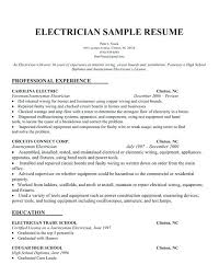 Sample Resume For Electrician Interesting Resume Sample Journeyman Electrician Cover Letter Template Word Yomm