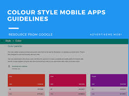 Google Design Style Color Colour Style Mobile Apps Guidelines Advertise Me Mobile