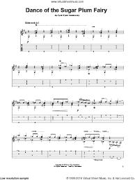 dance of the sugar plum fairy sheet music tchaikovsky dance of the sugar plum fairy sheet music for guitar solo