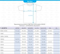 Regular Fit T Shirt Size Chart How To Use Size Chart Cheap T Shirt Printing Singapore
