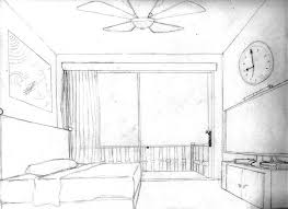 Innovation Simple Bedroom Drawing One Point Perspective Cdxndcom Home Design Inside Concept Ideas
