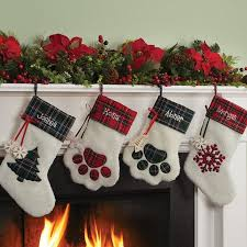 snowflake christmas stockings. Delighful Snowflake Personalized Dog Paw Cat Paw And Snowflake Christmas Stockings Inside N