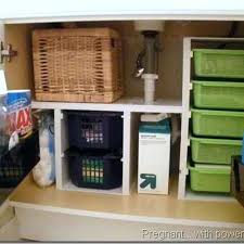 how to organize under bathroom sink organization
