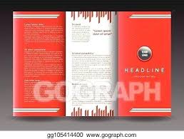 Fold Brochure Template Design Corporate Booklet Vector Art