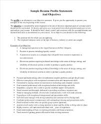 Sample Resume Objectives Statements Sample Resume Objective 8 Examples In Pdf