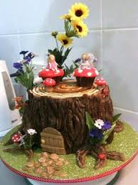 Small Picture Fairy garden tree stump house cake Garden Trees Pinterest