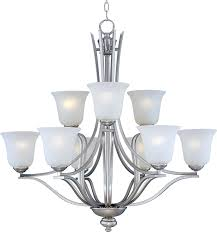 c157 10177icss by maxim lighting madera collection satin silver finish 9 light chandelier