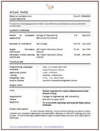 Best Resume Format For Computer Engineers Best Solutions Of Resume