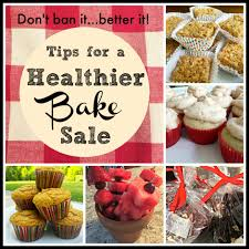 baking sale have a healthier bake sale