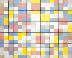 piet mondrian composition with grid checkerboard composition with light colors 1919 oil on canvas haags gemeentemuseum
