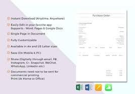 Purchase Order Format Doc Purchase Order Format Doc Madebyforay Co