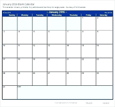 Blank Monthly Calendar Template Excel Running July 2016
