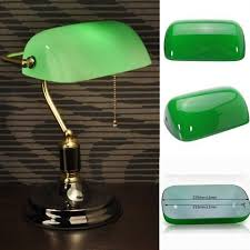 new green glass desk banker lamp shade cover cased replacement lampshade 9