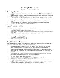 Resume For A Job Example How To Write Teens Examples Sample ~ Peppapp