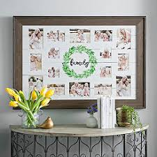 multiple picture frames rustic. Family Wreath Shiplap Collage Frame Multiple Picture Frames Rustic